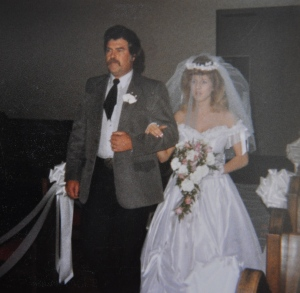 He walked me down the aisle the first time I got married in 1987.