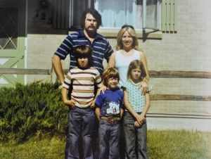 The family, 1976.  I was 8 here, my dad 28.
